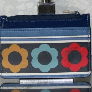 BRIGHTON NEWBERRY COIN PURSE MULTI-COLOR LEATHER